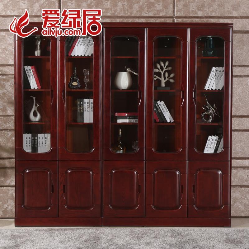 爱绿居新中式实木书柜878二门