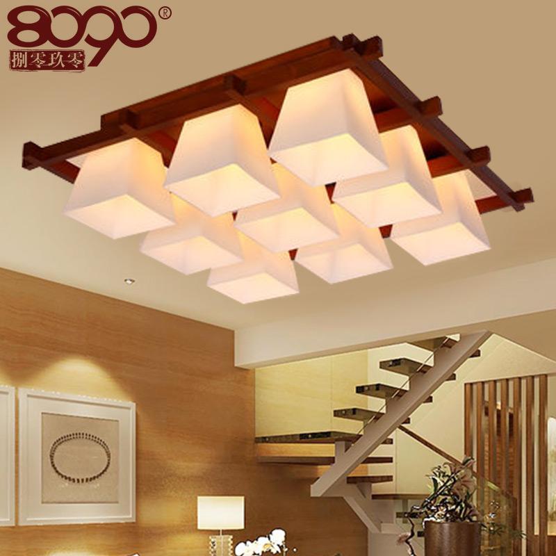 8090美式长方形吸顶灯1516