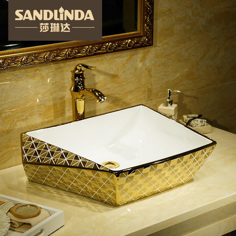 莎琳达钻石镀金台上盆钻石款-金梵蒂亚