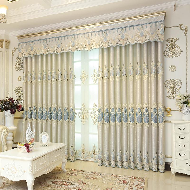 一米欧式窗帘布奢华大气温馨遮光落地飘窗卡罗莱娜