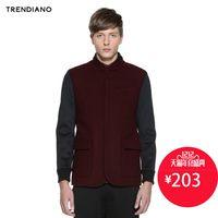 【12号 203】TRENDIANO立领拼接羊毛呢外套314434367S
