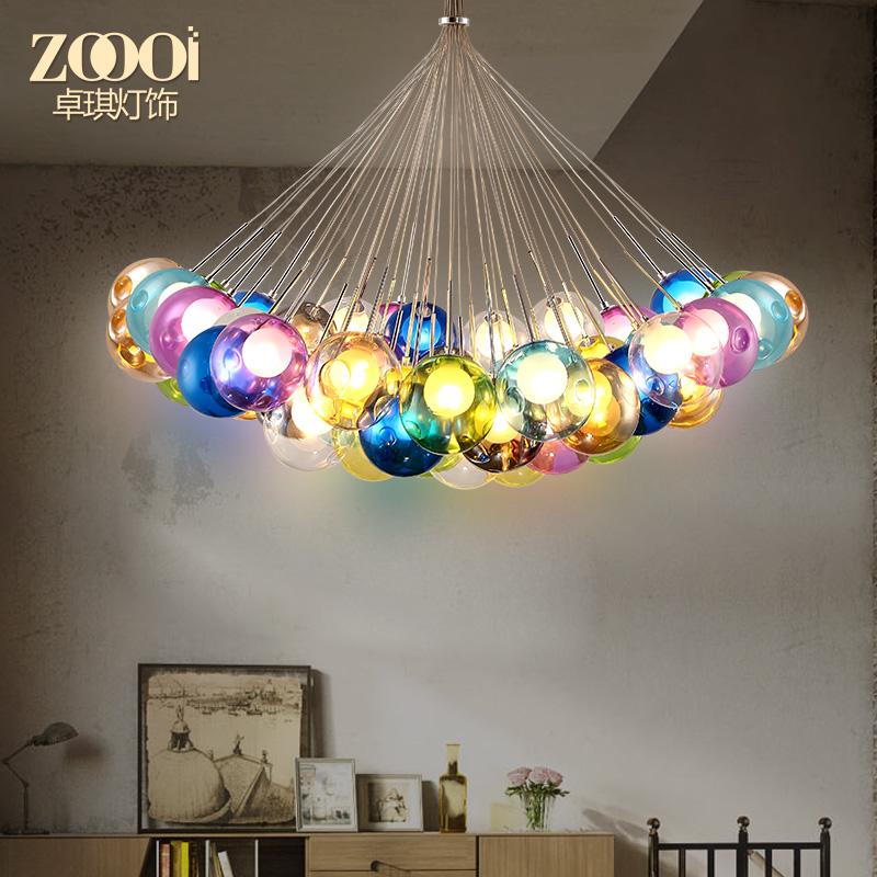 卓琪创意彩色玻璃球吊灯DW-D0642