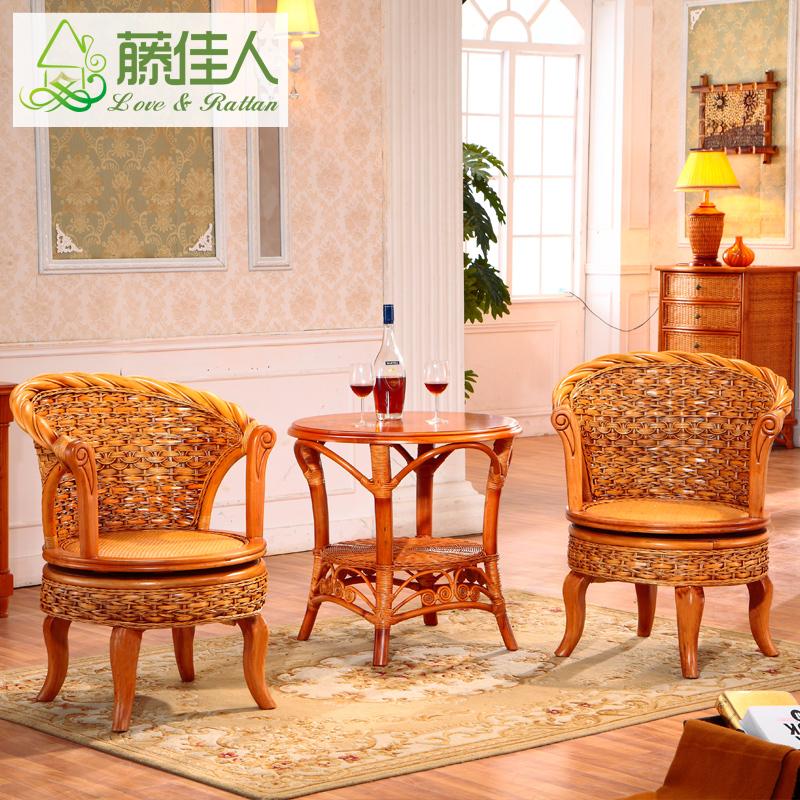 藤佳人藤椅子茶几8882
