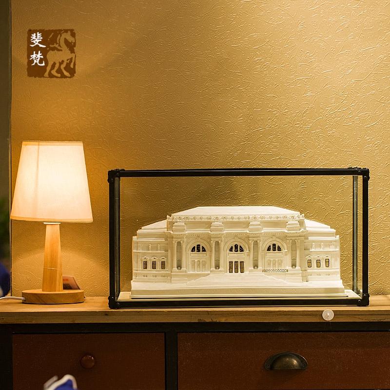 欧式世界建筑模型树脂摆件创意客厅玄关书桌电视柜创意装饰摆设