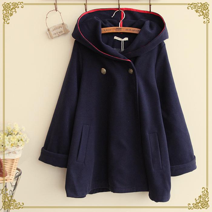женское пальто Новый зимний плащ шерстяное пальто женщин длинный участок слово большие качели ослабление значительно тонкий большой код шерсти пальто шерстяное
