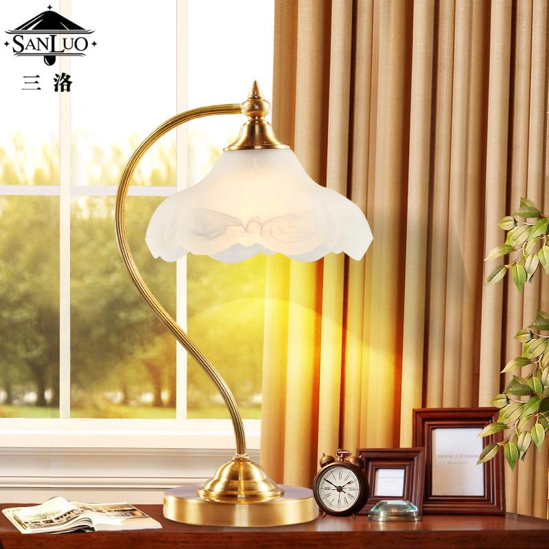 三洛全铜台灯床头灯th331t