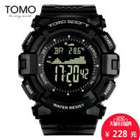 TOMO多功能时尚户外运动手表跑步登山海拔气压温度男士防水电子表