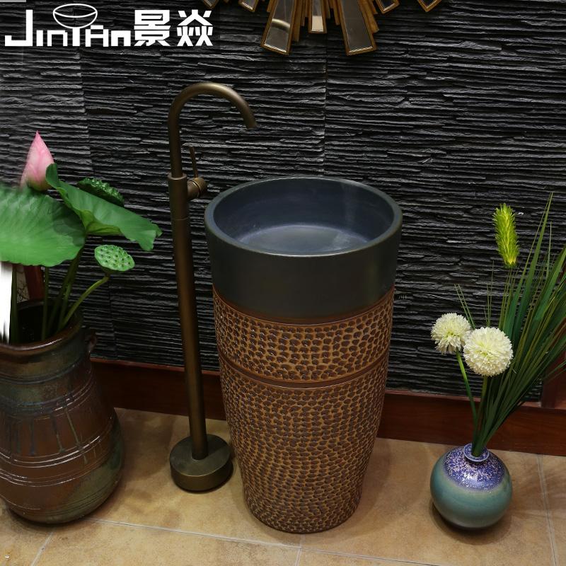 景焱陶瓷卫浴一体立柱盆1052