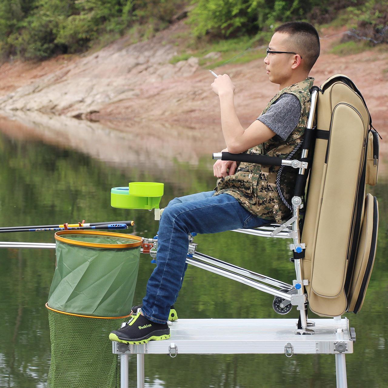 吉立莱 钓椅 钓鱼椅子钓鱼凳折叠便捷垂钓椅台钓椅2018新款航母A