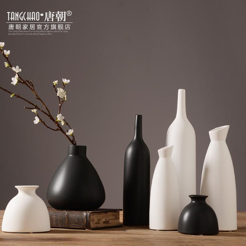 唐朝日式禅意陶瓷花瓶摆件