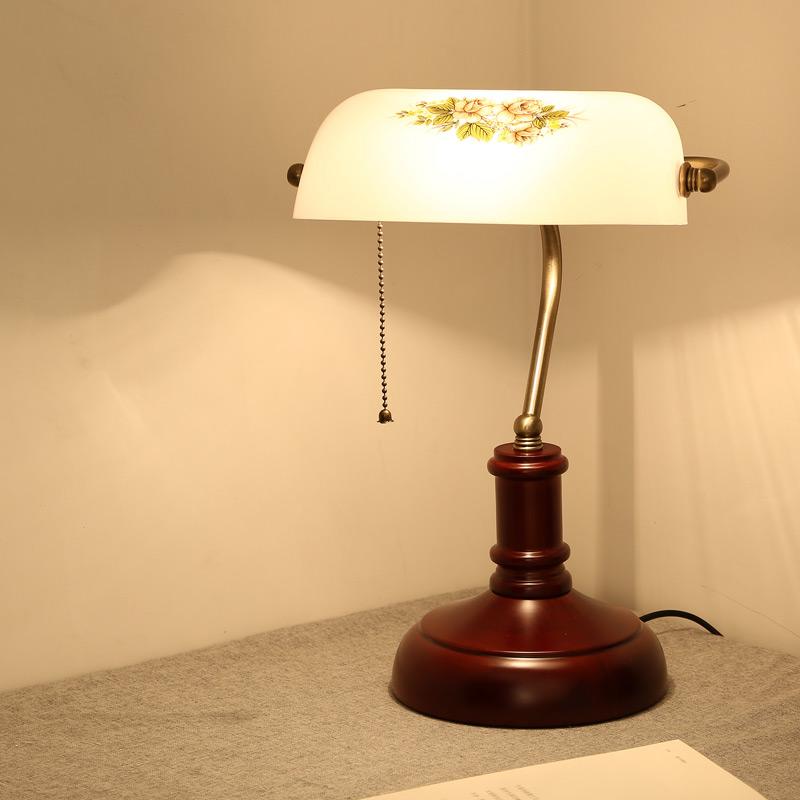 罗莎蒙德复古美式怀旧玻璃台灯T023