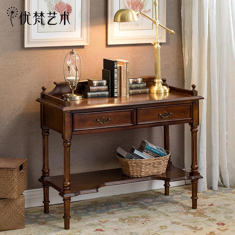 优梵艺术figaro美式实木书桌126039