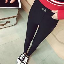 韩国魔术裤 黑色冬季打底裤 铅笔裤