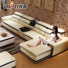 狄普真皮沙发头层牛皮进口中厚皮客厅皮艺沙发客厅组