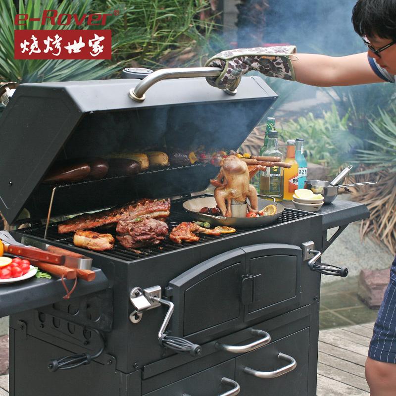 烧烤世家赫伯烧烤架家用木炭庭院5人以上别墅烧烤炉美国土豪bbq