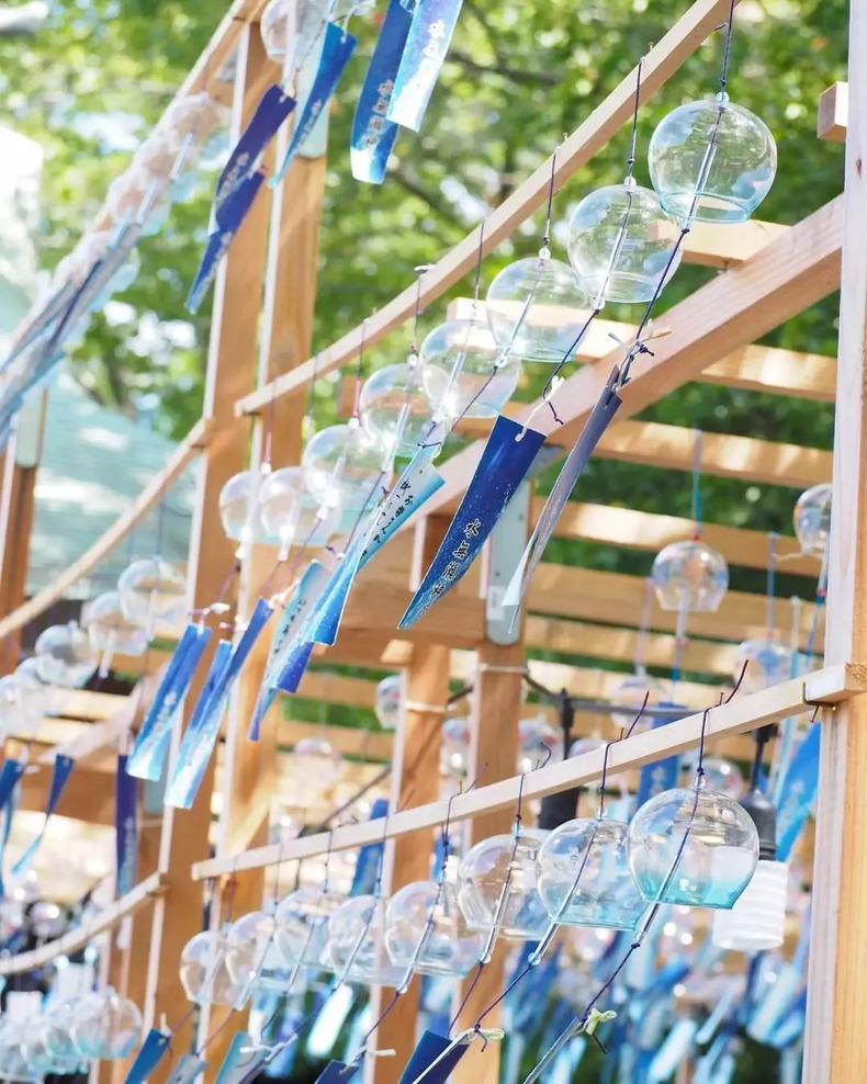 日本一神宫仅靠风铃就引得众人打卡拍照!是我记忆中夏天的声音