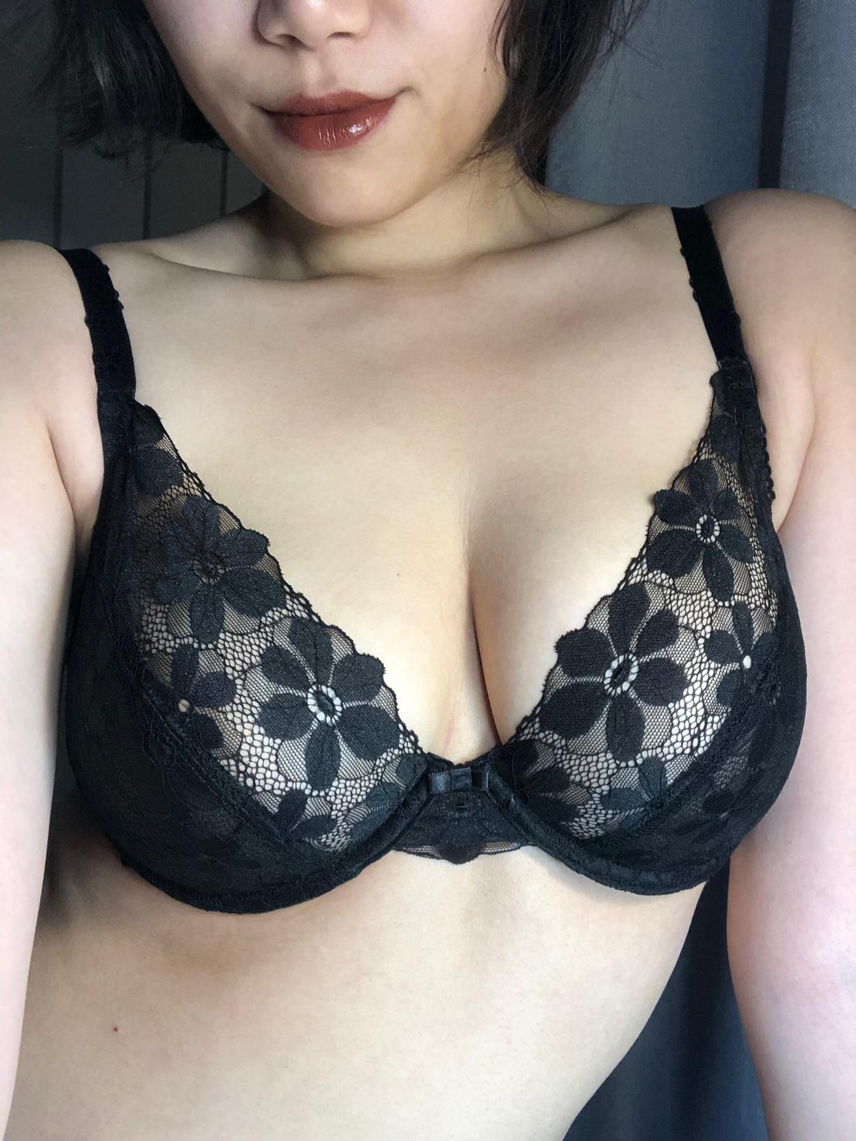 夏娃的诱惑绽放性感大胸显小内衣买家秀图片