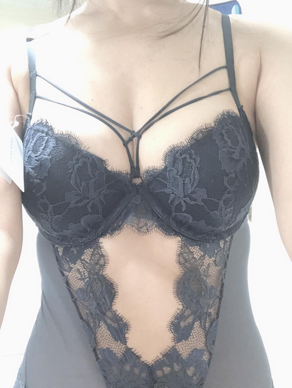 性感夏季聚拢大胸显小文胸连体内衣买家秀图片