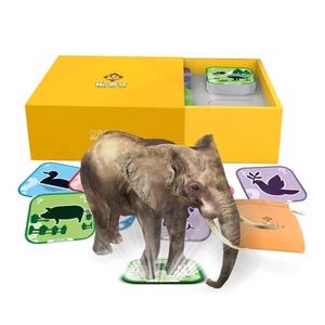 小熊尼奥口袋动物园AR早教识字卡片3D立体1-6岁认图益智玩具