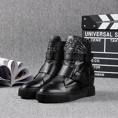 欧洲,高帮鞋,增高,休闲鞋,2016秋,冬季,女鞋,真皮,厚底,棉鞋,欧货,欧美