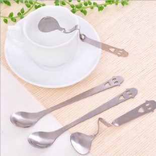 New brand 1 pc 14cm Elegant Drink Tea Coffee Scoops Mixer St