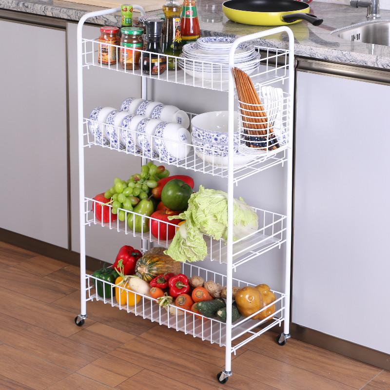 厨房置物架子3多层2放菜蔬果落地家用饭店收纳用品水果厨具小功能