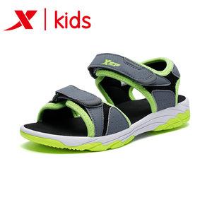 特步童鞋儿童凉鞋男童鞋女童2018夏季新款防滑小学生中大童沙滩鞋