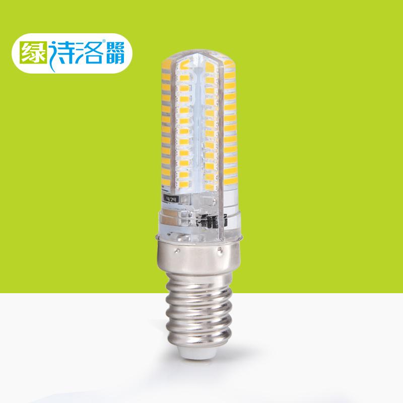 LED冰箱灯泡机床灯E12小螺口E14油烟机灯缝纫机灯盐灯3W硅胶灯珠