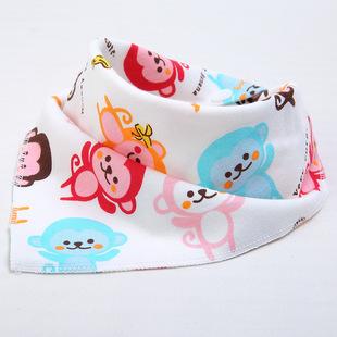 婴儿纯棉三角围嘴5条装