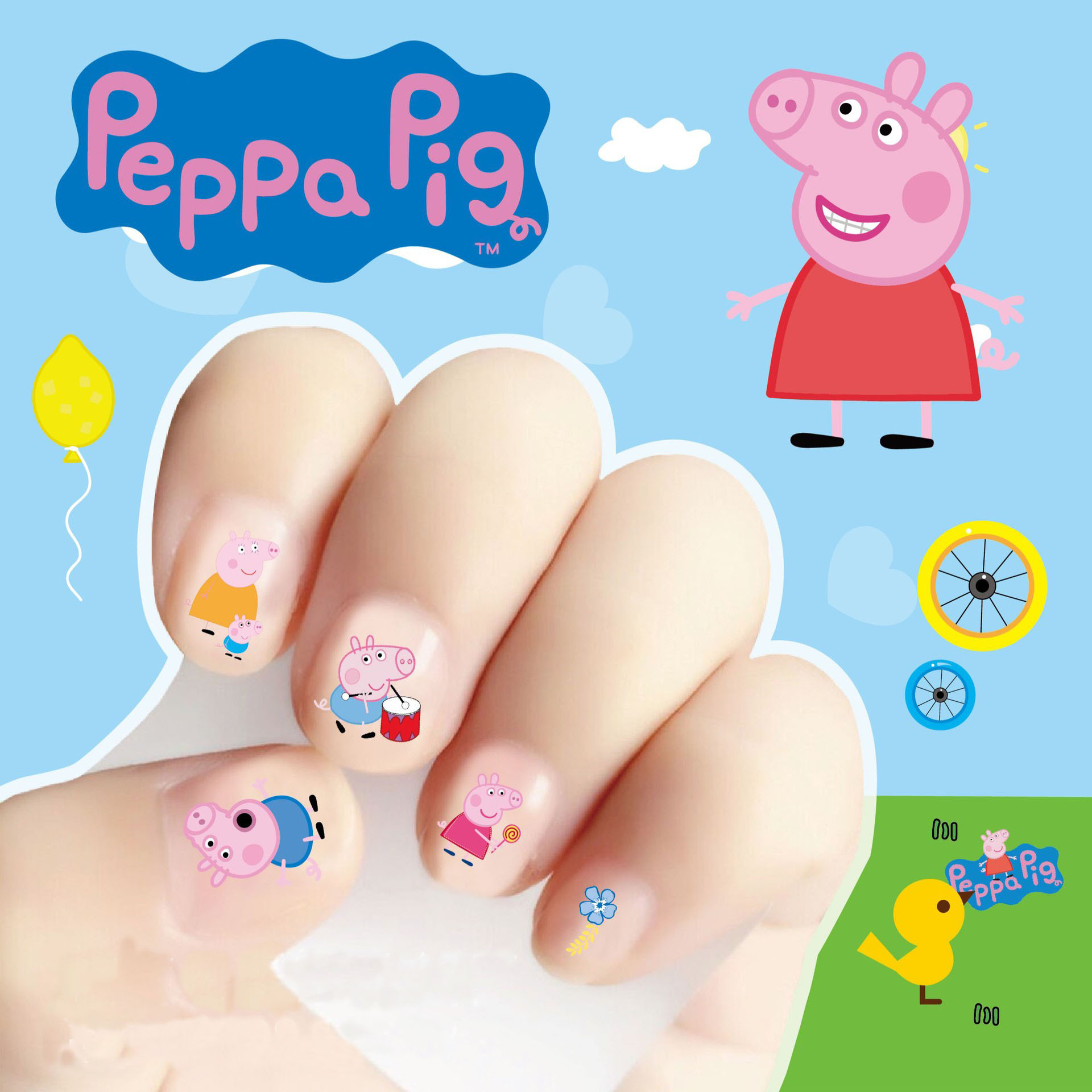 Cartoon children\'s nail stickers children\'s nail stickers stickers ...