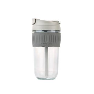 乐扣乐扣玻璃水杯女夏季带吸管简约便携可爱泡茶杯大容量咖啡杯子