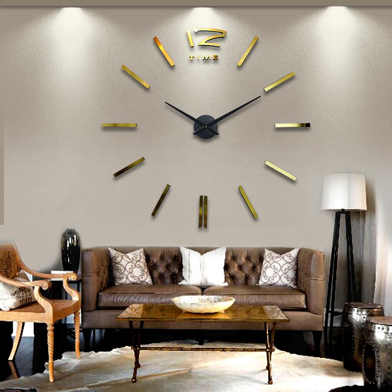 hanging clock living room oversized acrylic mirror clock wal