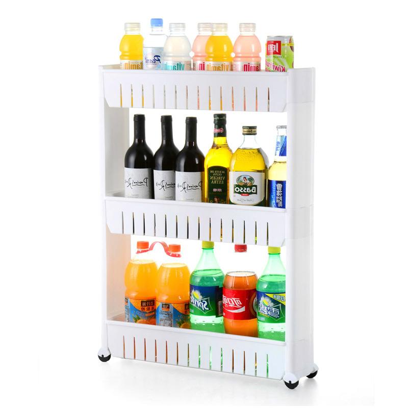 促包邮夹缝置物架带轮厨房收纳整理架冰箱可移动置物架窄款储物架