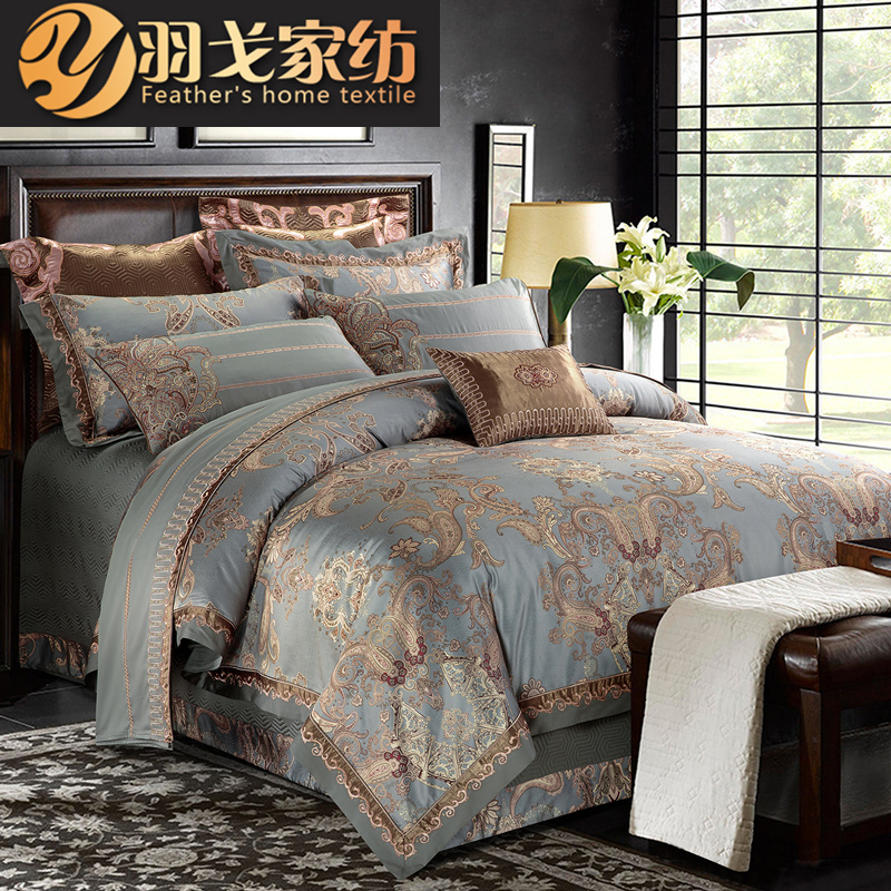 高端美式欧式四件套床上用品纯棉全棉欧美风奢华高档床品被套床单