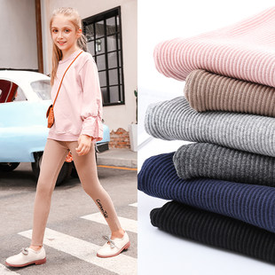 Girls leggings cotton long pants children's clothing foreign female baby 2019 new spring and autumn wear outside summer thin section