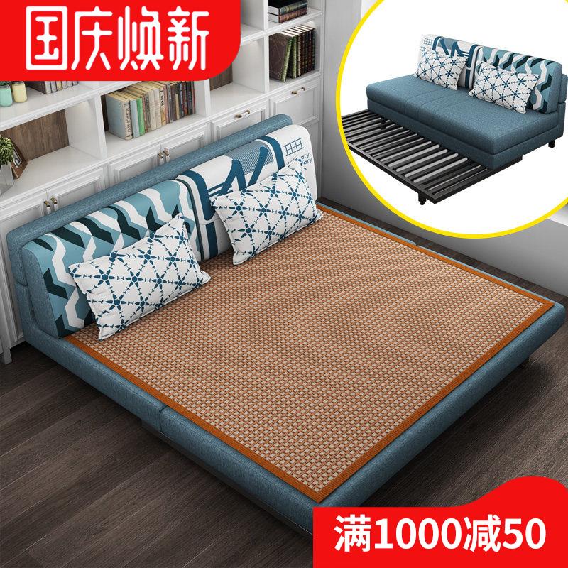 沙发可折叠床客厅小户型两用多功能单双懒人简约现代实木简易特价