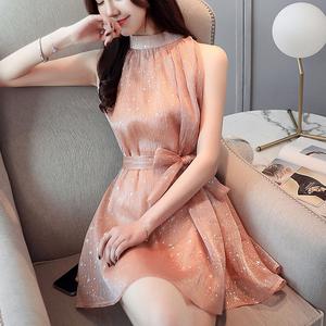 实拍 539#连衣裙2019新款夏很仙的法国小众连衣裙无袖短...