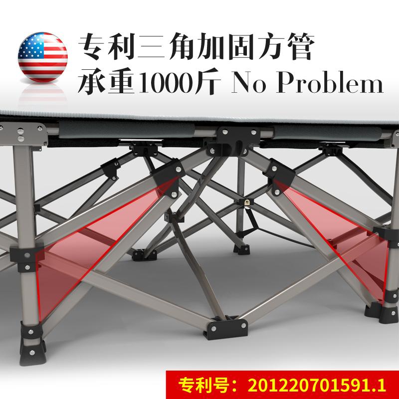耐维加固方管办公室折叠床CK-0202
