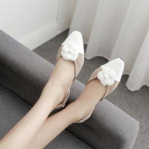 夏季新款!韩版小方头平底包头花朵时尚舒适女凉鞋