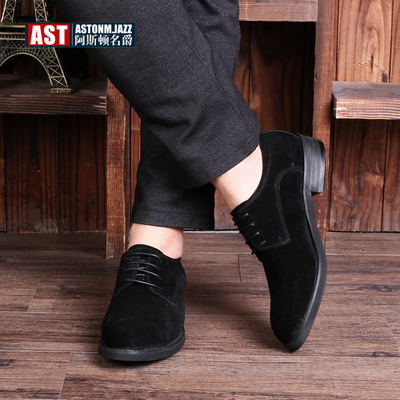 18 spring and autumn new men's business casual shoes Korean trend line men's shoes British pointed leather shoes men