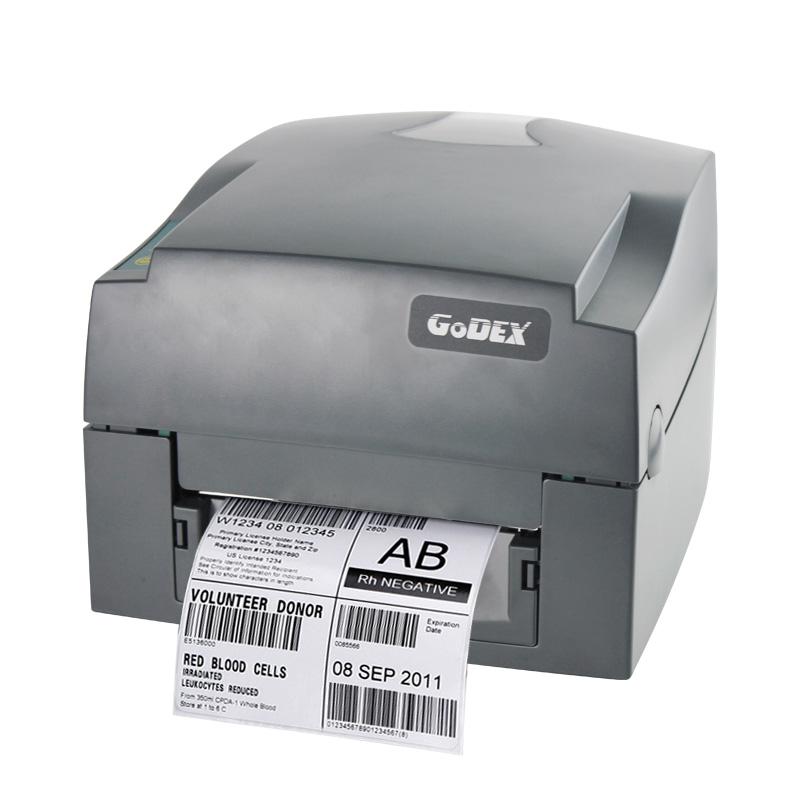 服装标签打印机Godex科诚g530U吊牌珠宝合格证不干胶条码机二维码热敏打单机碳带贴纸条形码条码机便签打标机
