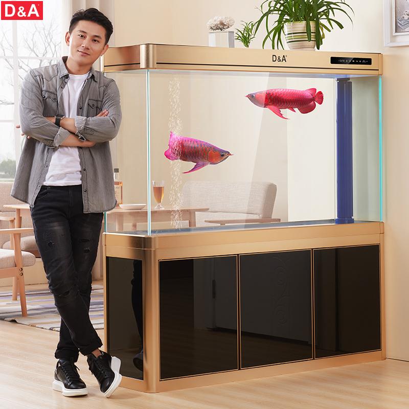 德国德克鱼缸水族箱超白玻璃龙鱼缸客厅中型底过滤免换水生态鱼缸