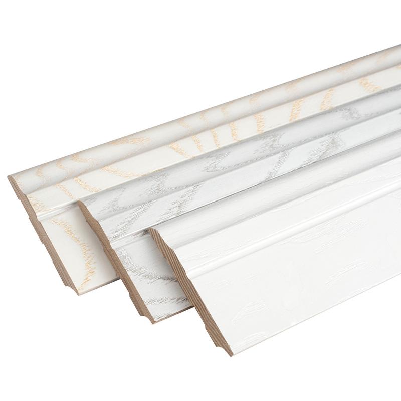 白色橡木踢脚线实木地脚线纯实木木地板贴脚线墙角线踢脚板装饰