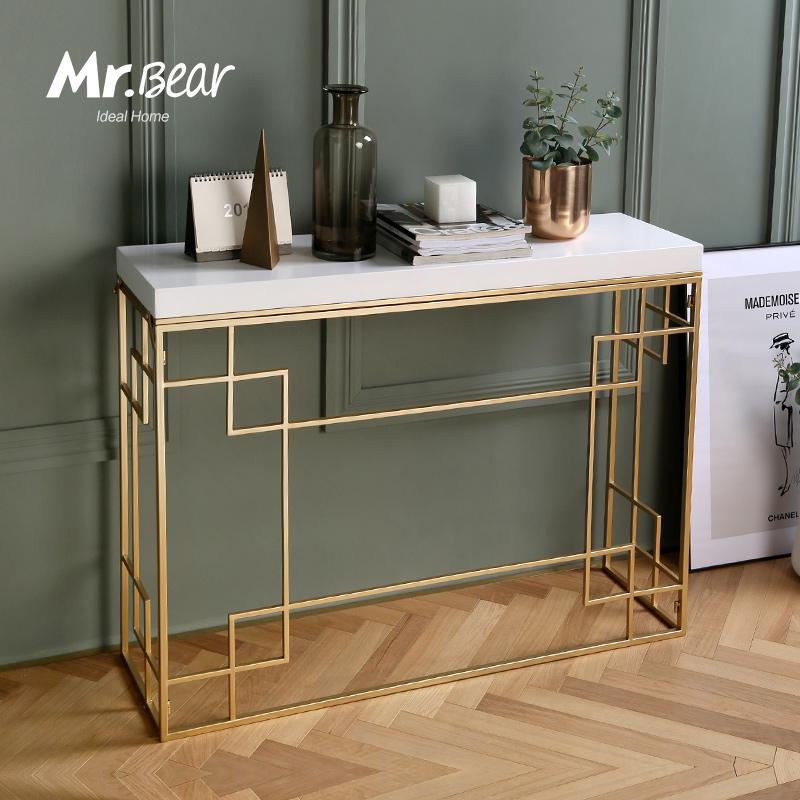 北欧现代简约玄关桌折叠铁艺客厅装饰玄关台玄关柜门厅柜窄边桌