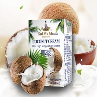 马来西亚进口水妈妈椰浆椰汁西米露咖喱冬阴功汤家用小包装200ML