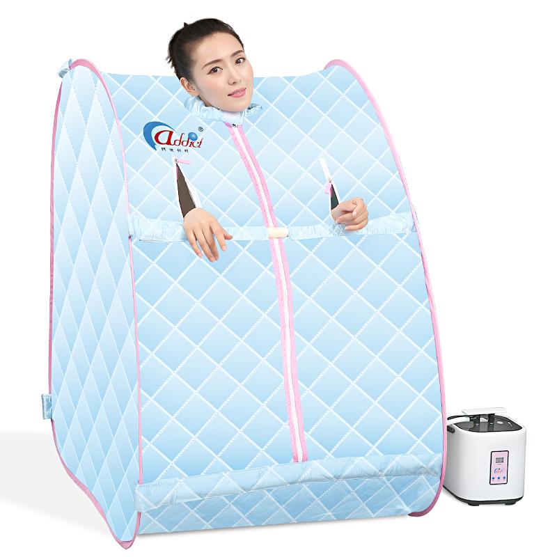 阿迪科特家庭蒸汽桑拿浴箱家用汗蒸房熏蒸机单人折叠汗蒸箱发汗箱