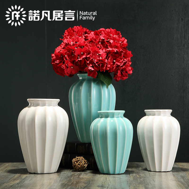 American ceramic vase mesa sitting room hotel dry flower arranging flowers do old flower implement creative Europe type restoring ancient ways is contracted fashion