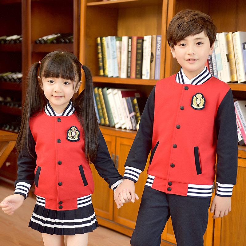 小学生校服套装春秋冬季韩版男女童装运动服棒球服班服幼儿园园服