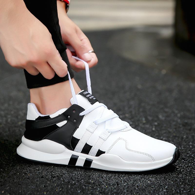 11新款拼色软底跑步运动鞋休闲学生时尚百搭系带户外男鞋