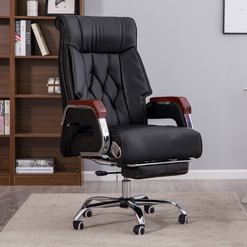 帝藏电脑椅家用老板椅真皮大班靠背转椅办公会议椅子可躺按摩座椅